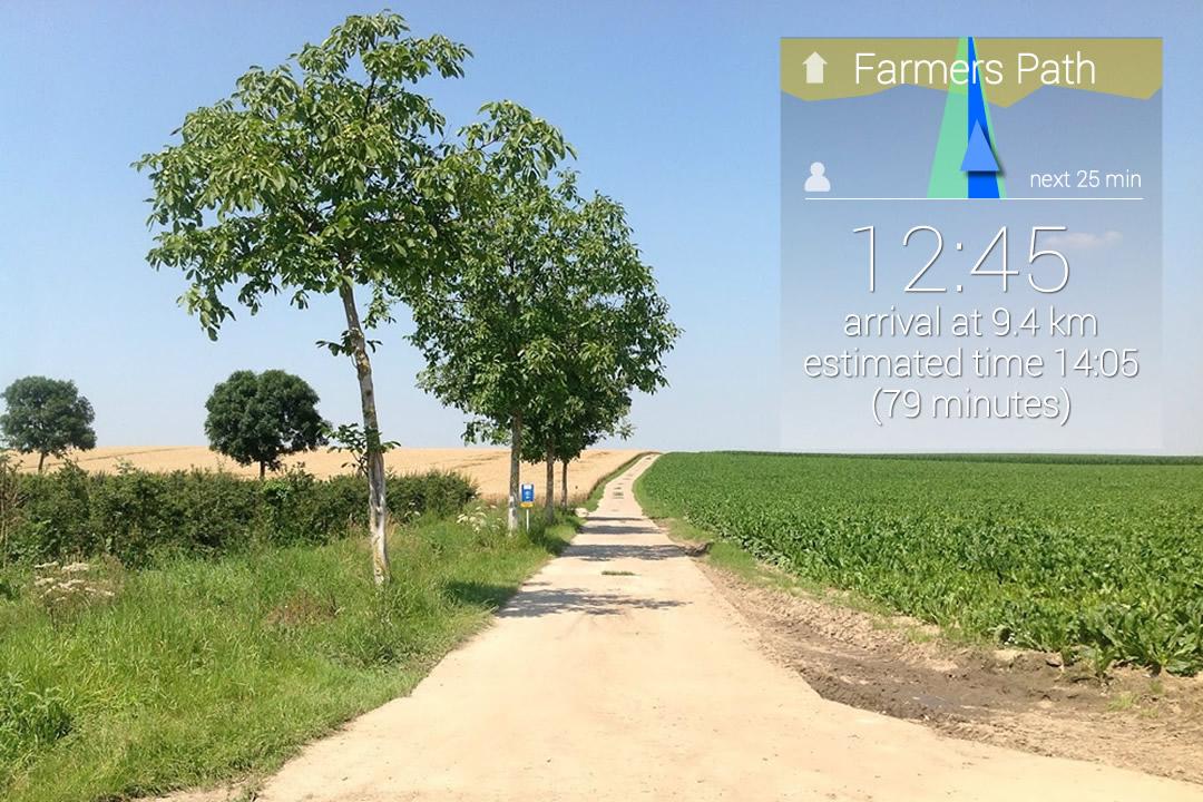 Wandelroutes op jouw maat met Google Glass