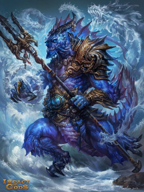 Lu Hua ilustrações arte conceitual fantasia games Saqueador dragão
