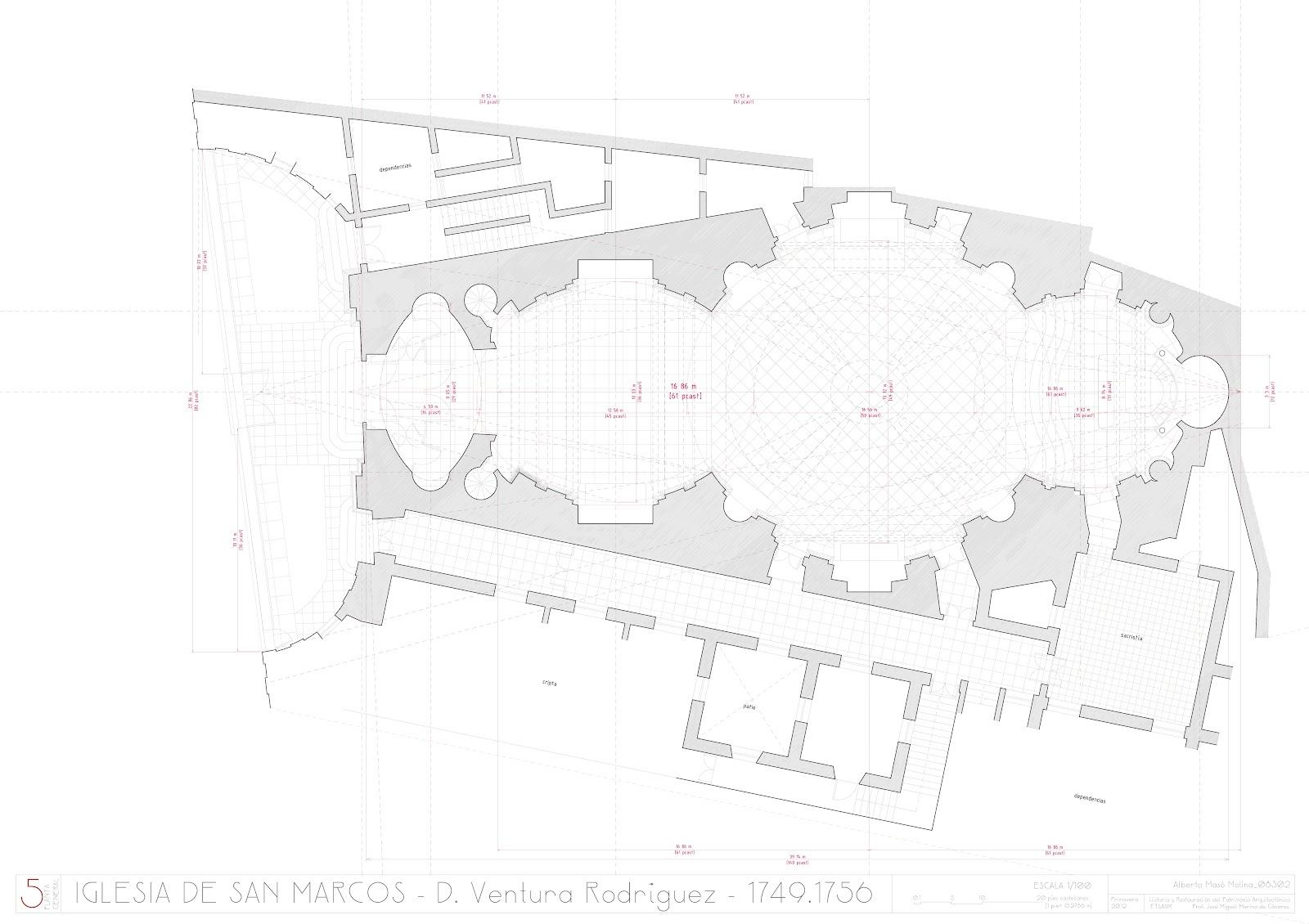 Composición de una vivienda a partir de una retícula de 12x12 metros ...