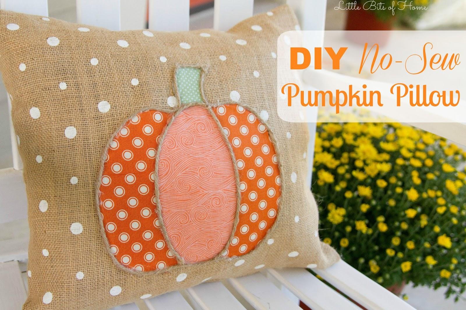 & DIY No-Sew Pumpkin Pillow pillowsntoast.com