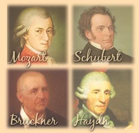 Mozart, Schubert, Bruckner, Haydn