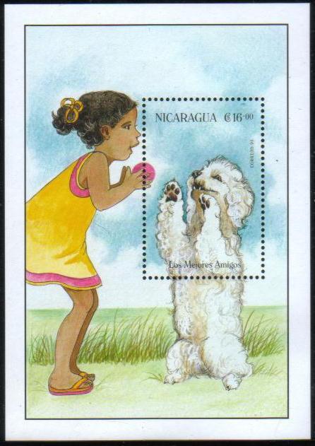 1996年ニカラグア共和国 マルチーズの切手シート
