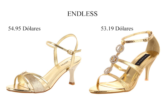 Zapatos dorados fiesta