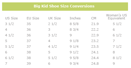 Converting Kids Size To Adult Size Shoes Nike