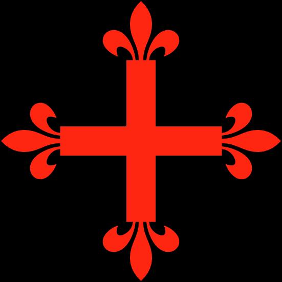 Dibujo HERLDICO Cruz flordelisada y cruz florenzada