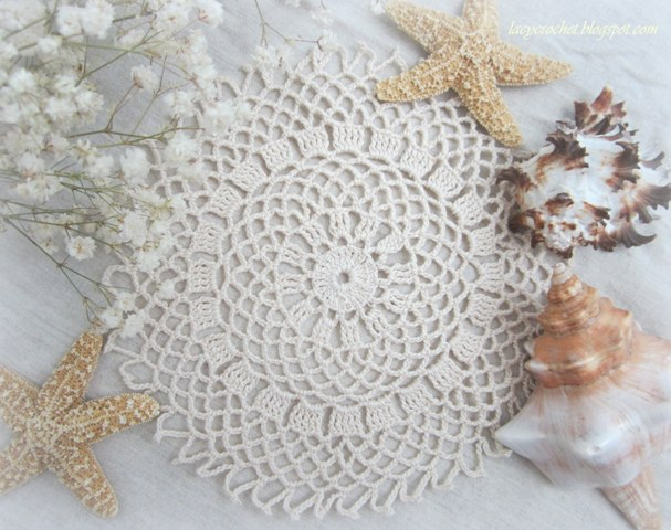 Free Crochet Pattern Lace Doily : Lacy Crochet: Free Doily Patterns