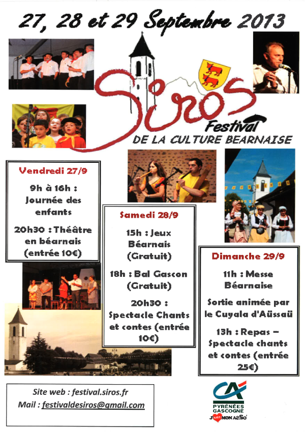 Festival de la Culture Béarnaise 2013 à Siros