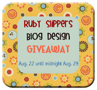 Ruby Slippers Blog Designs is having a design giveaway from Aug. 22 to Aug. 29