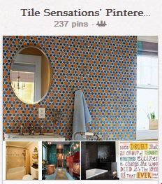 Tile Sensations' Pinterest board for Coverings