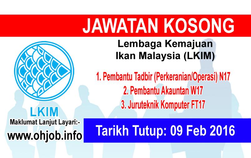 Jawatan Kerja Kosong Lembaga Kemajuan Ikan Malaysia (LKIM) logo www.ohjob.info januari 2016