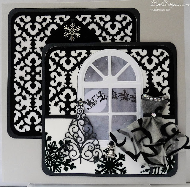 Charming Black & White Christmas Dress & Mannequin Card