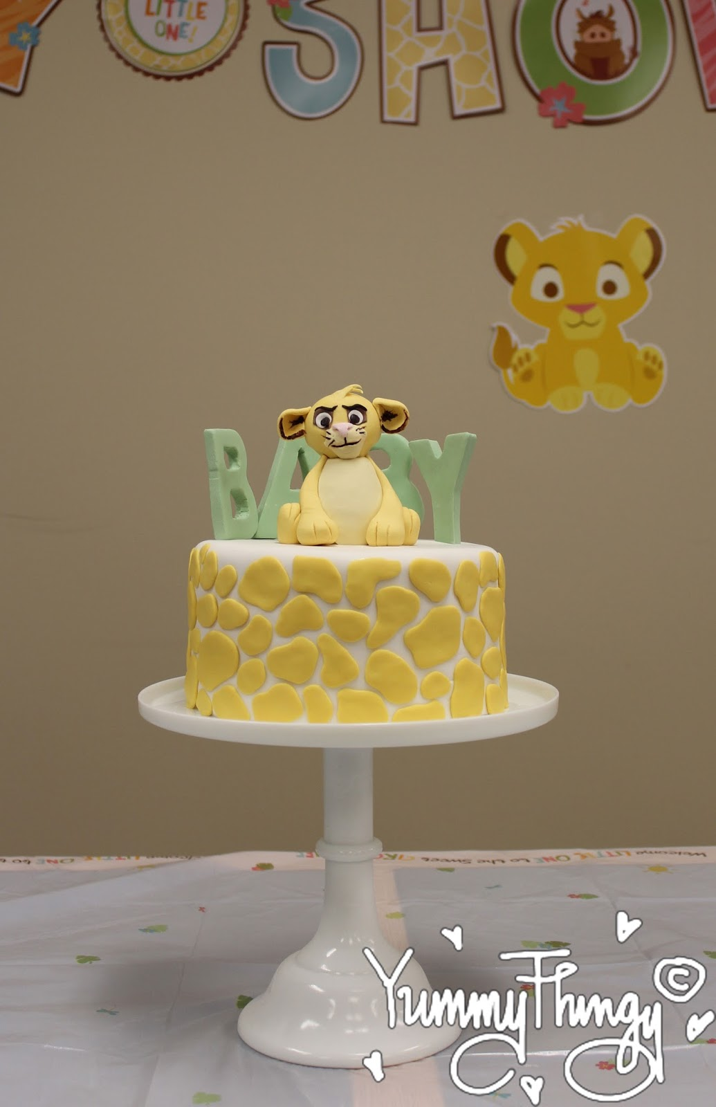 simba baby shower cake