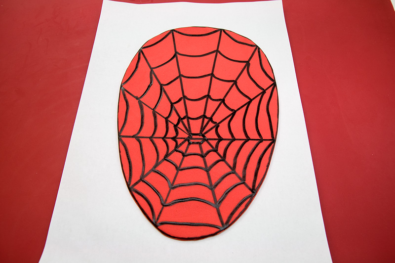 Spiderman fondant motive - head net