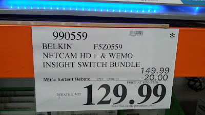 Costco offers the Belkin F5Z0559 Netcam HD+ and WEMO Insight Switch Home Monitoring Bundle with an instant rebate at a great price