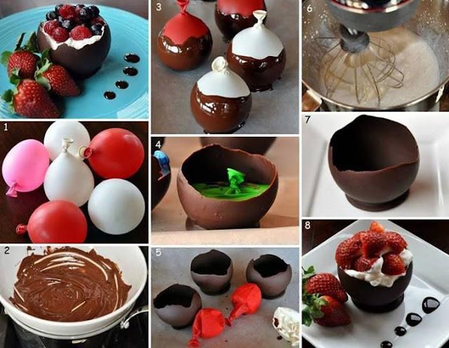 Receta.Cuencos de Chocolate.