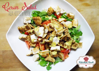 cesar salad alla kitchen nook