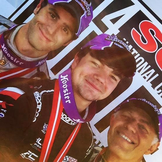 Formula Atlantic Podium Selfie: Conner Kearby, National Champion with Second Place Sedat Yelkin and Third Place Bruce Hamilton.