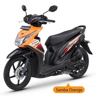 New Honda Beat Fi Orange matic injeksi PGM-Fi spesifikasi mesin dan harga - www.teknologiz.com