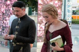 Petyr y Cersei, grabación tercera temporada de Juego de Tronos - Juego de Tronos en los siete reinos