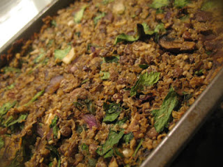 Spicy Lentil Quinoa Nut Roast