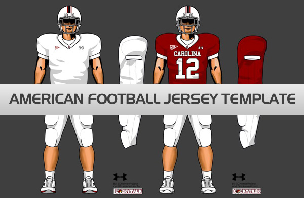 American Football Jersey Template PSD