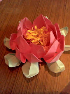 Creative of rainy hand made flower 4 origami paper lotus flower this is origami lotuss another hand made flower mightylinksfo Images