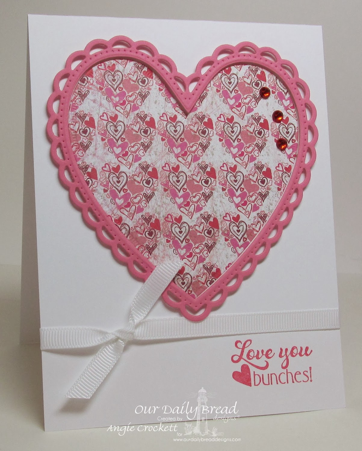 ODBD Love You Bunches, ODBD Custom Ornate Hearts Die Set, ODBD Custom Heart and Soul Designer Paper Collection, Card Designer Angie Crockett