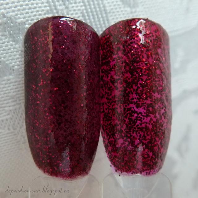 L: Deborah Lippmann Razzle Dazzle R: Shimmer polish Marilyn