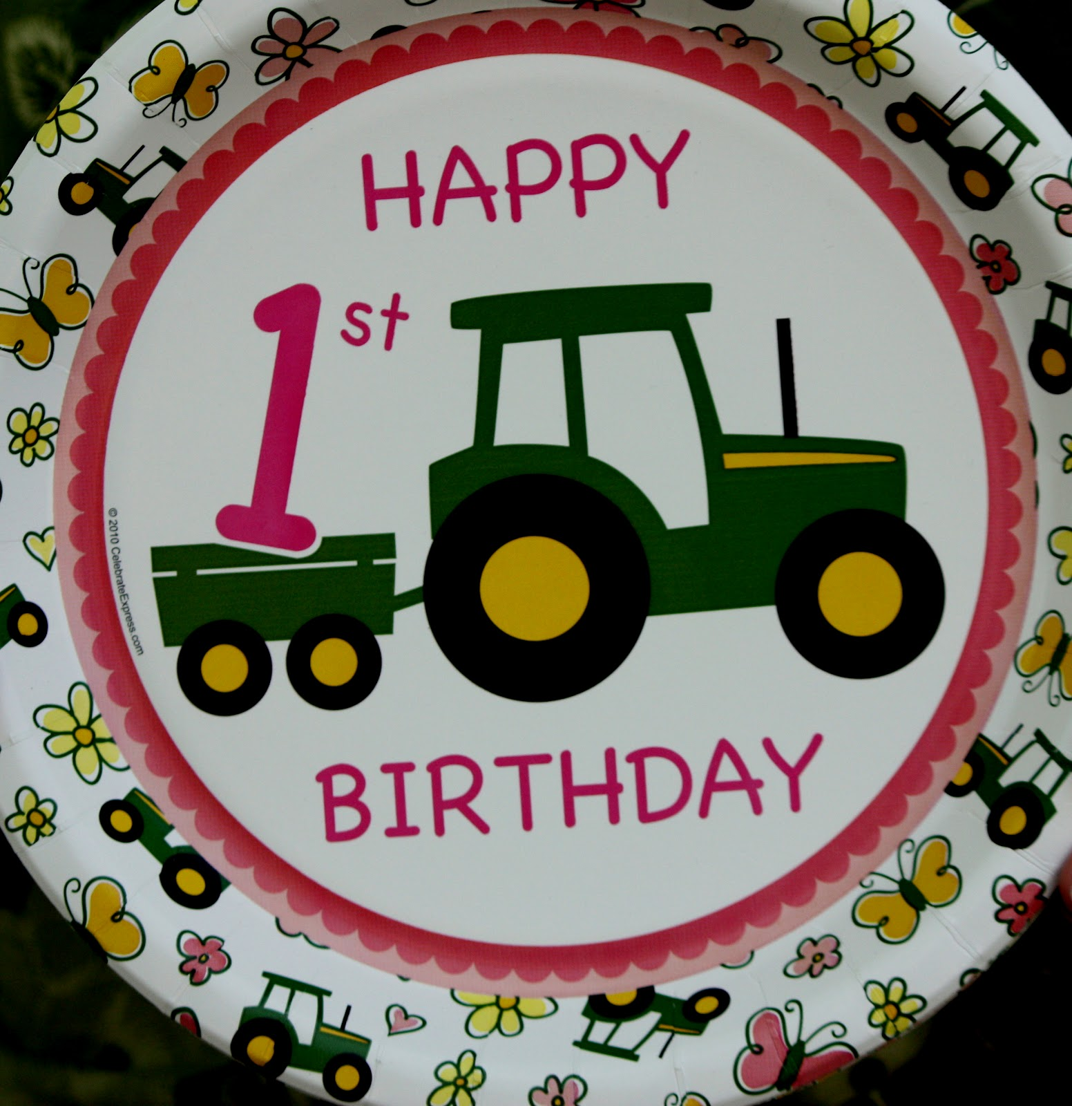 Sister-Dipity: Pink John Deere 1st Birthday Party