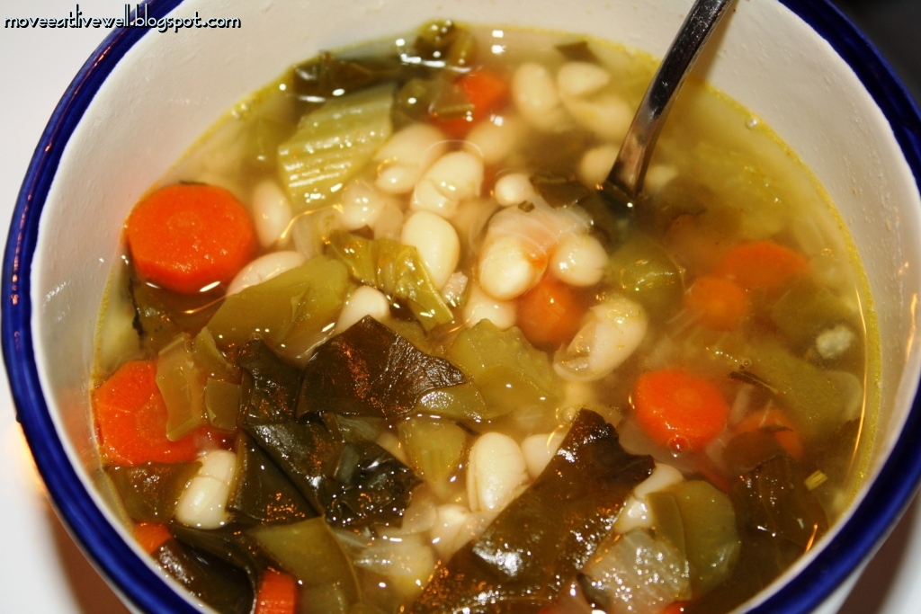 Move. Eat Healthy. Live Better.: NAVY BEAN SOUP (VEGETARIAN)