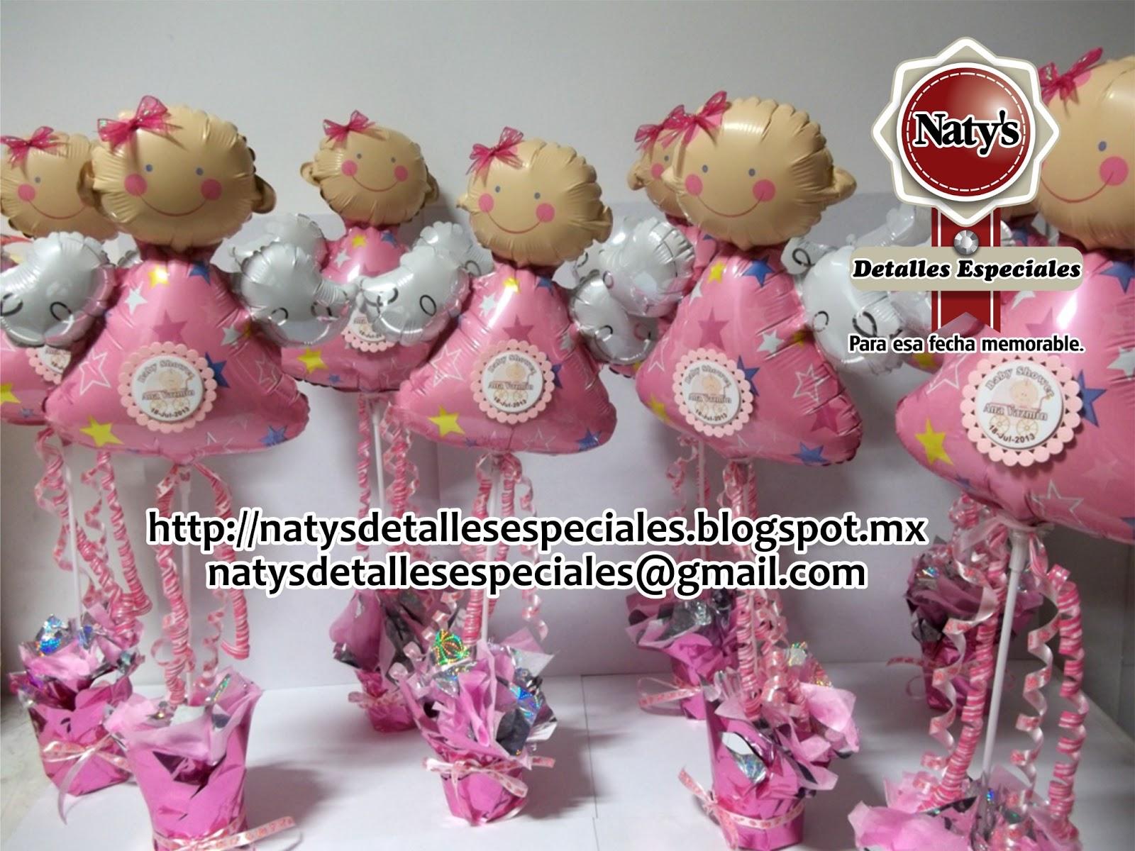Natys detalles especiales para esa fecha memorable centros de mesa para baby shower con arreglo - Detalles para baby shower ...