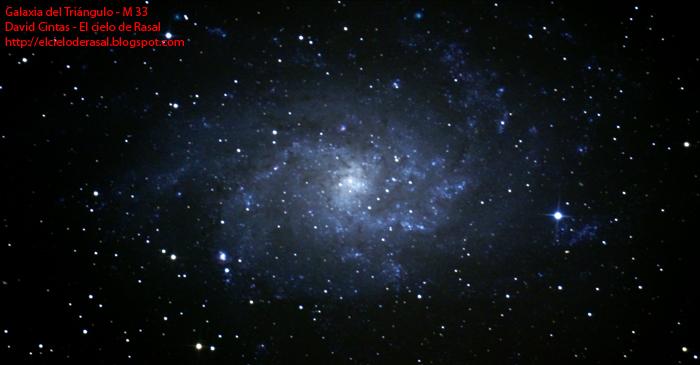 Galaxia triangulo M33 - El cielo de Rasal