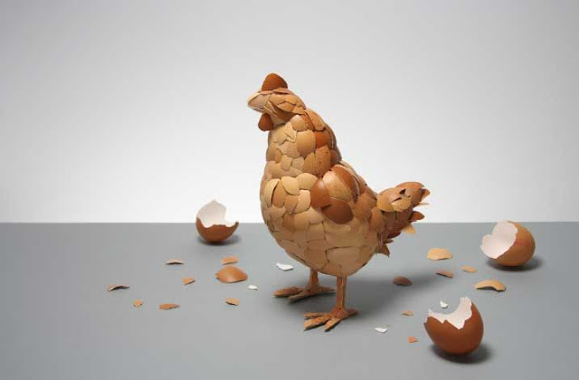 Unik! Kulit Telur Ayam Disusun Menjadi Ayam! [ www.BlogApaAja.com ]