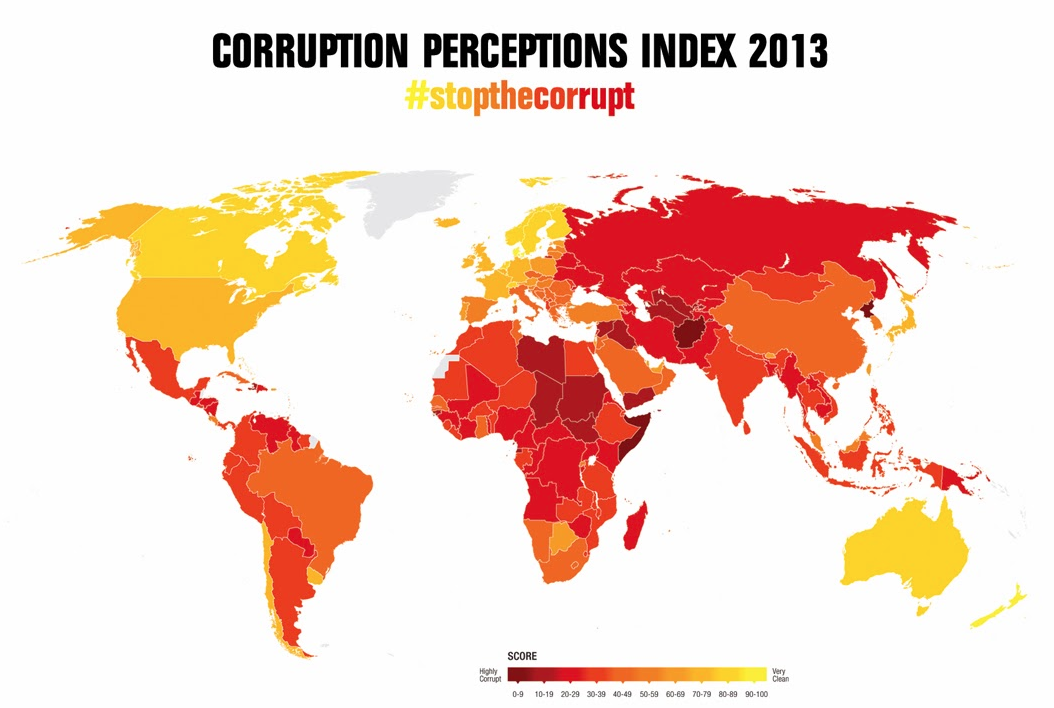 corruption ranking corrupt countries world