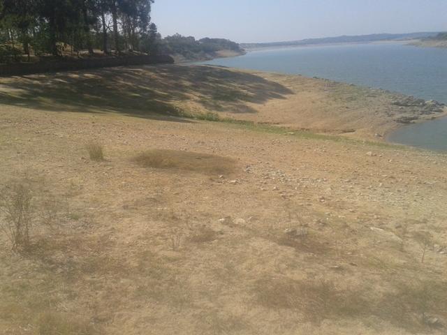 Zona de Pedras da barragem