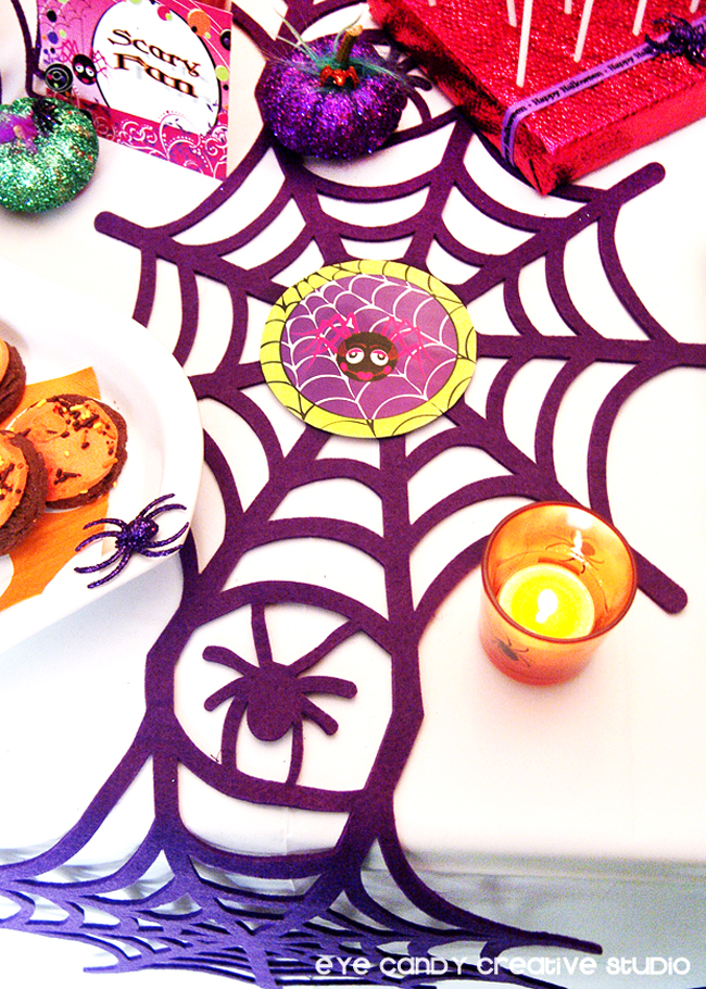 scary fun, spider web runner, halloween dessert ideas, cookies