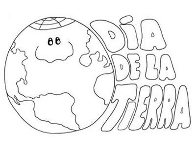 Dibujos del día de La Tierra para colorear | Manualidades para niños ...