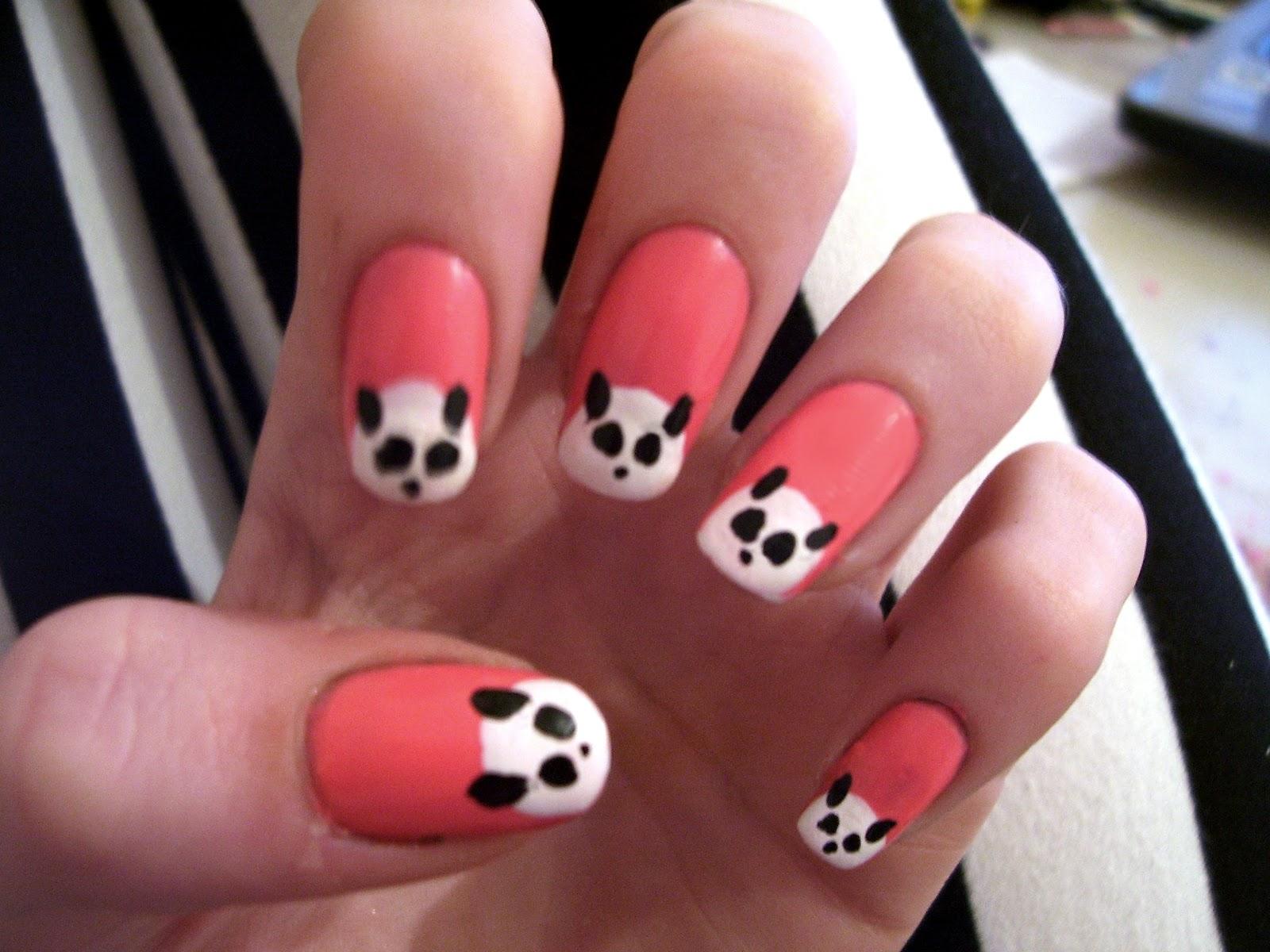 Cute panda nail art! - Hannah Louise Fashion
