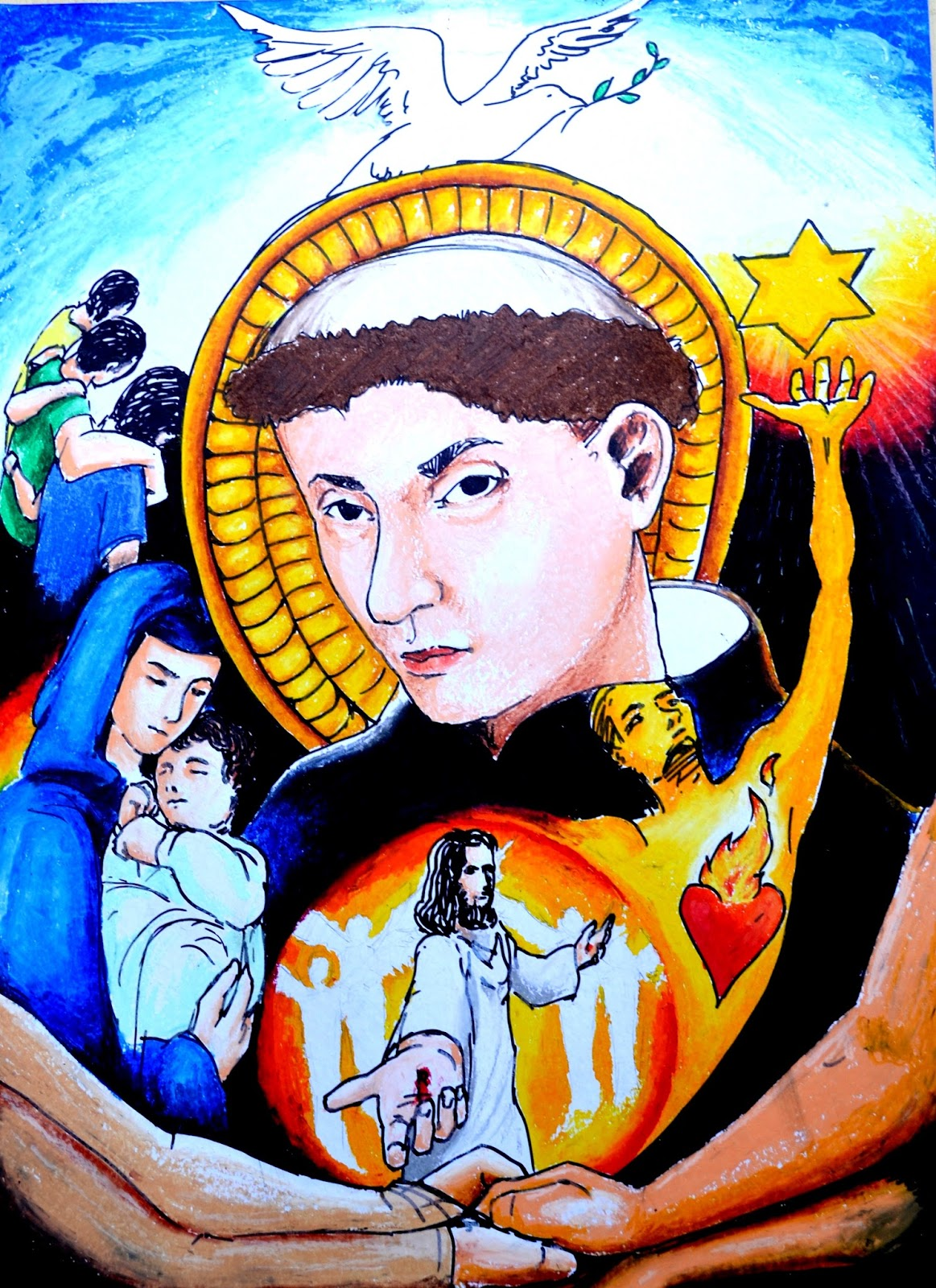 Tolentine herald catholic faith festival 2015 poster for Making prints of paintings