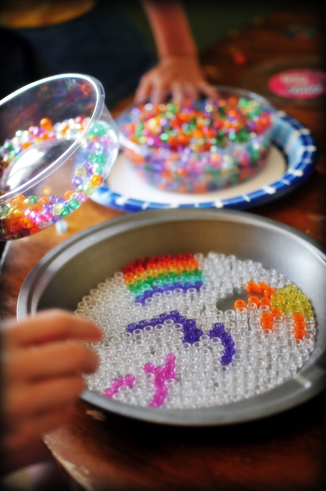 Plastic beads for crafts - Our Version Of Melted Bead Sun Catchers