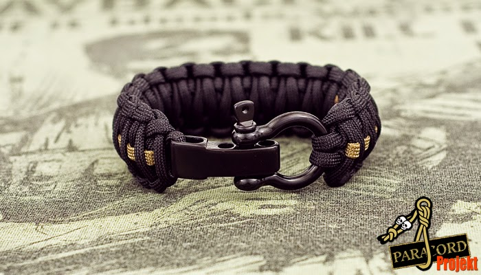 Bransoletka king cobra GRUPA KRWI na szekli czarnej regulowanej U bądź Ω