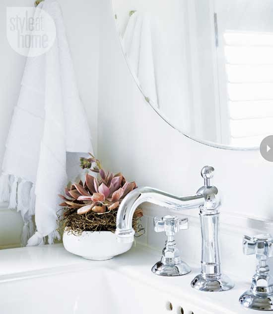 Made in heaven all white bathroom for All white bathroom accessories