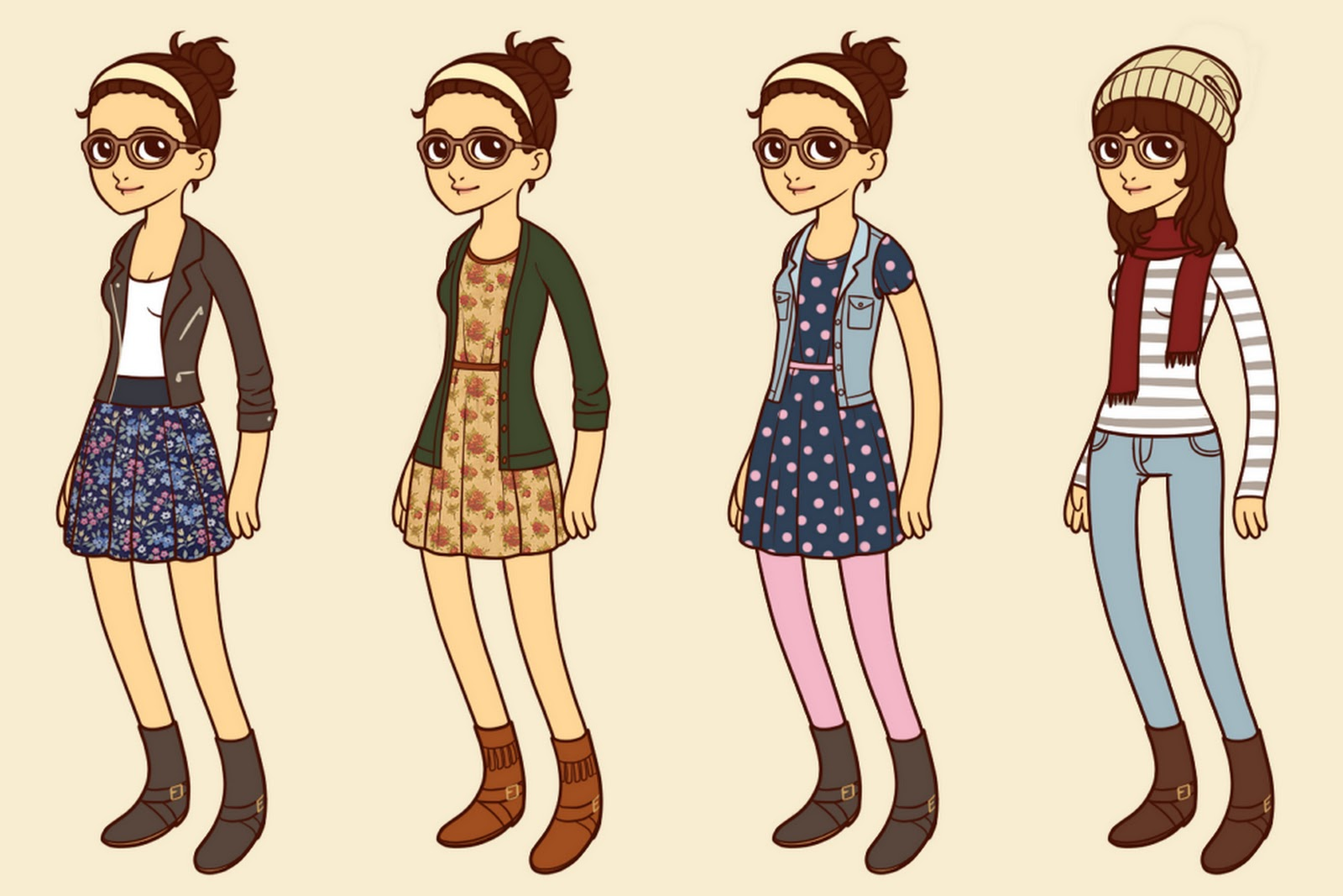 Tumblr Hipster Girls' Outfits