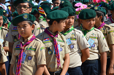Cambodian boy scouts