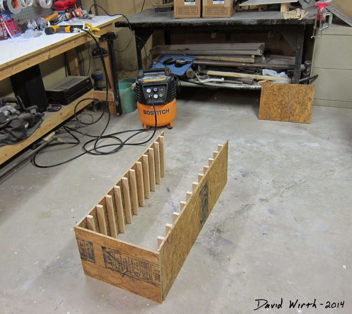 building the case, wood case for shop, tray, verticle, stacking