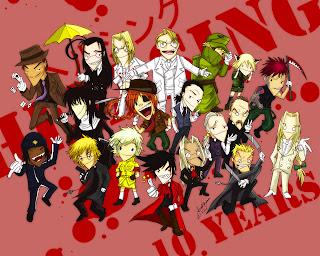 anime personajes gore
