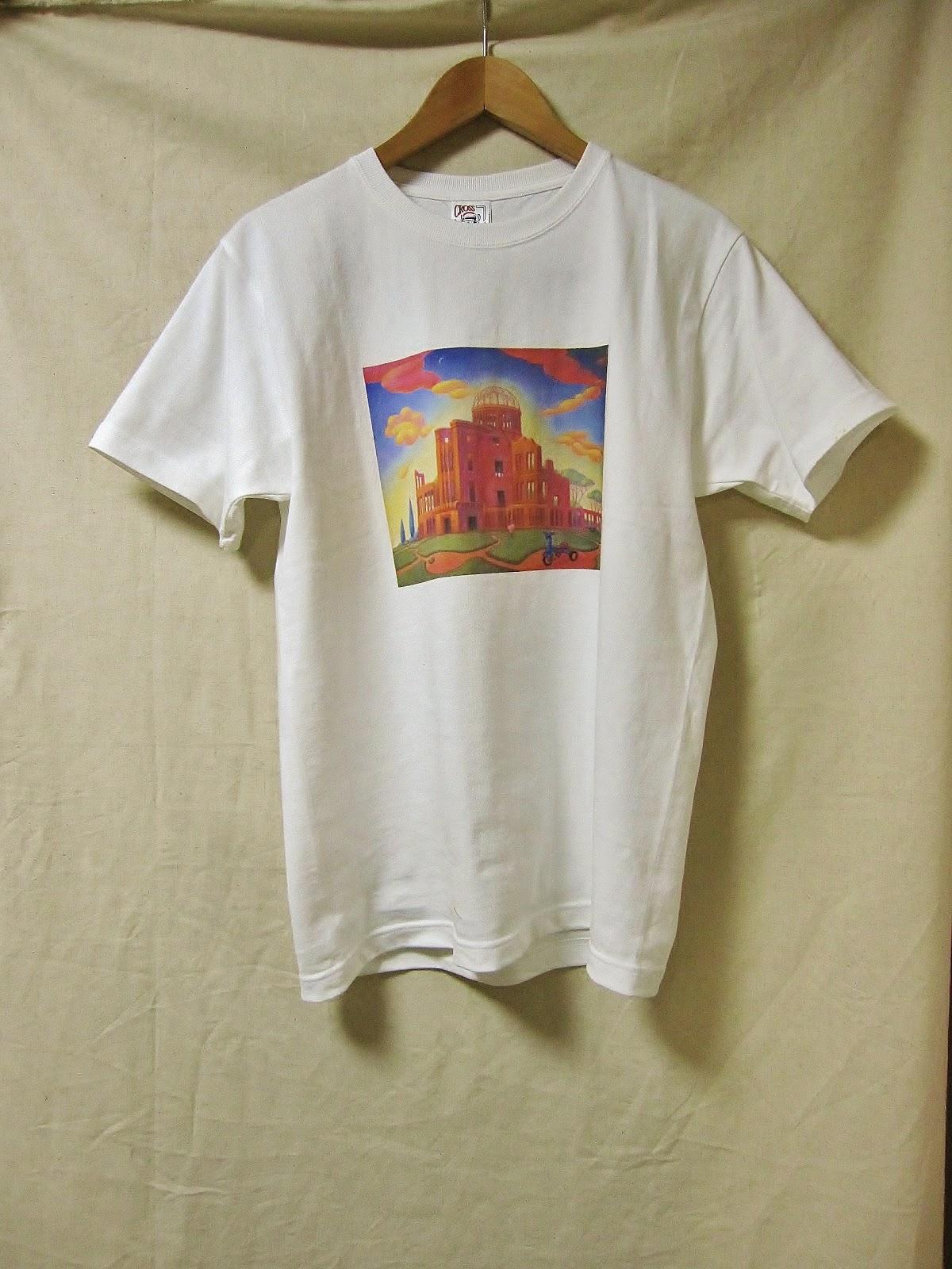 原爆tシャツ HIROSIMA 原爆ドームTシャツ