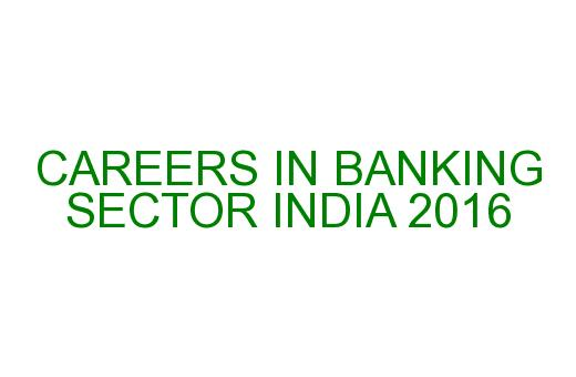 career opportunities in banking sector If you are good at maths and english and want to make a career in the bank- ing  sector, then this is the right time to make a move most government and pri.