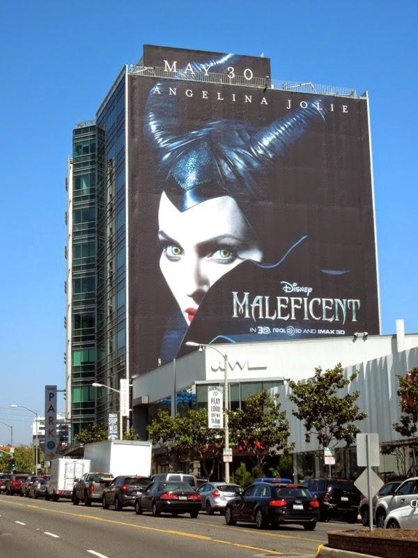 Giant Disney Maleficent movie billboard