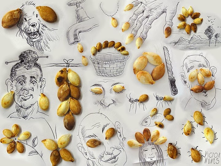 الابداع بلا حدود-لوحات فنية نصها مرسوم ونصها حقيقي Design-fetish-Victor-Nunes-objects-illustrations-into-faces-5